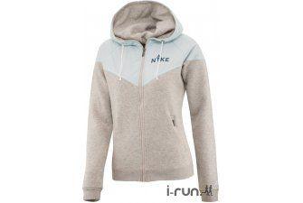 Nike Veste Polaire RU Overlay Fleece W pas cher - Vêtements femme running Manches longues en promo