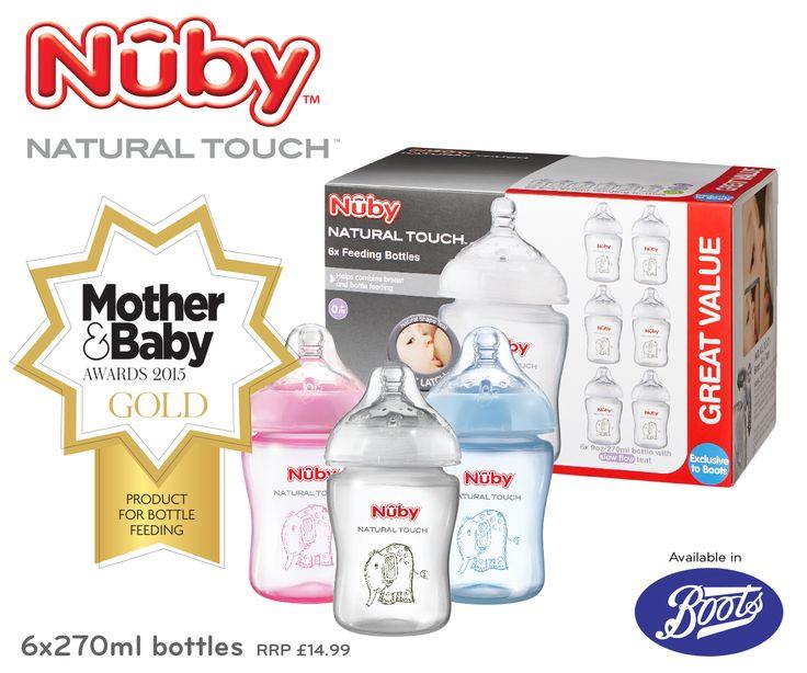 Nuby Natural Touch award winning Baby Feeding Bottles