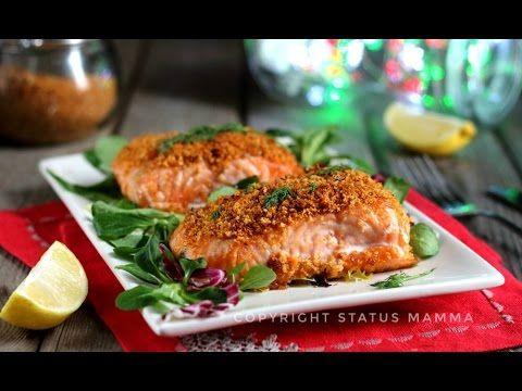 Ricetta filetto di salmone in crosta di panure mediterranea