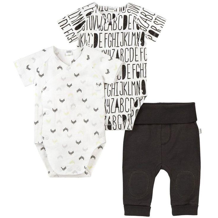 Petit Lem Alphabet Set // organic baby clothes // black and white baby clothes // modern baby clothes