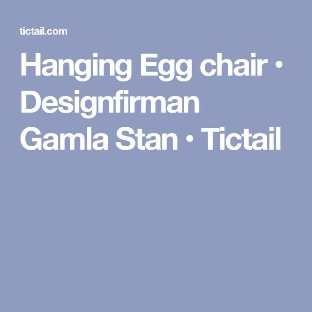 Hanging Egg chair • Designfirman Gamla Stan • Tictail