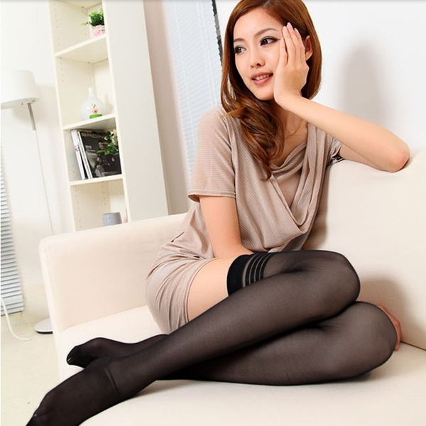 Womens Black Stripe Sexy Stockings Pantyhose at Banggood