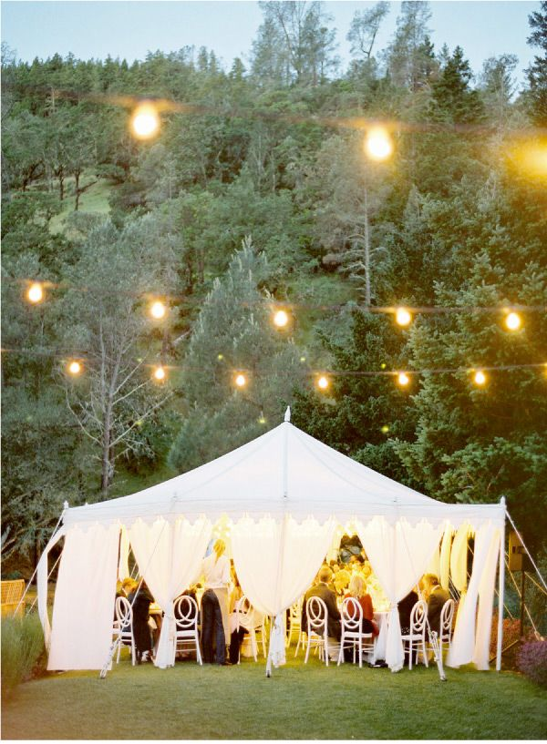 Canopy & White Lights: Hanging Lights, Wedding Receptions, Tent Wedding, Dreams, Wedding Ideas, Parties, String Lights, Outdoor Events, Outdoor Receptions