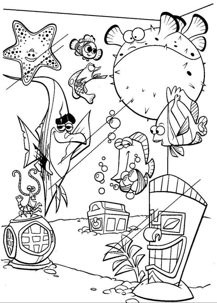 100 best Disney Finding Nemo Coloring Pages Disney images on - new pixar coloring pages finding nemo