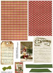 free downloadable Christmas Card Kit