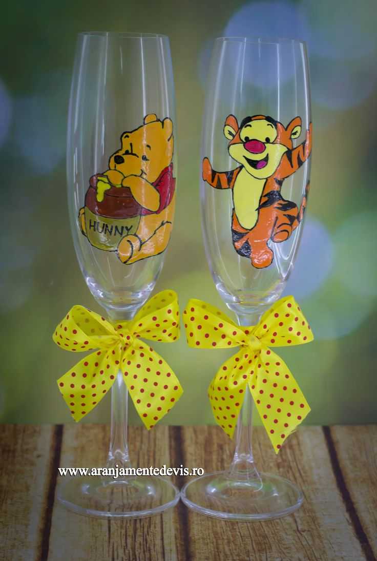 Pahare pictate manual Winnie the Pooh si Tiger