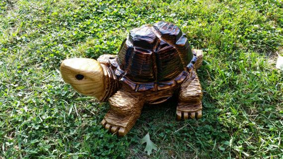 Chainsaw Carving Chainsaw Carved Turtle by GearysCustomCarvings