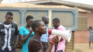 Nigerian College Students In Violent Protest, Burn Clinic And Eight Vehicles