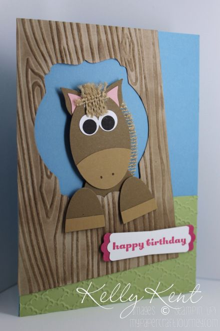 Cards for Tweens (girls). Horse punch art (CASEd from Sharnee Torrents). Kelly Kent - mypapercraftjourney.com.