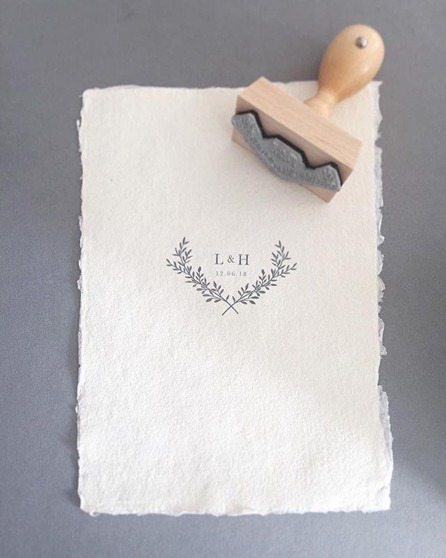Wedding logo. Logo stamp. Wedding monogram stamp.
