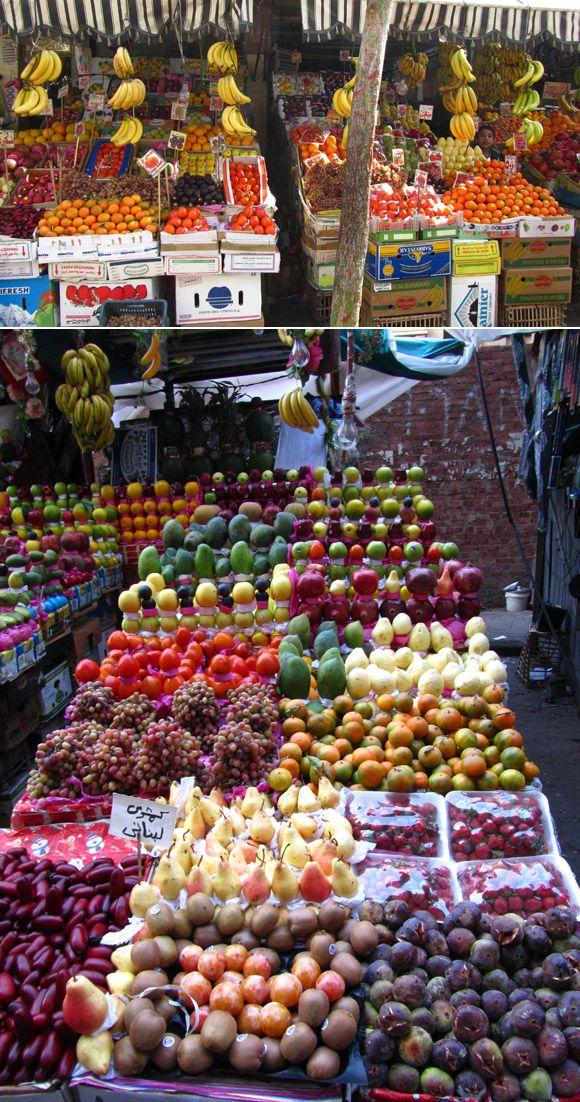 Fruit Market in Cairo, EGYPT