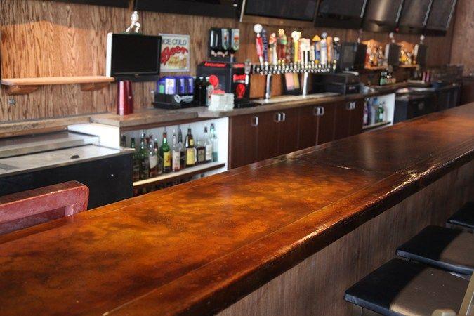 Colored Bar Top Concrete Countertops Classic Counters San Diego, CA