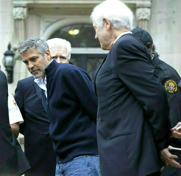 George Clooney arrested in protest at Sudanese Embassy