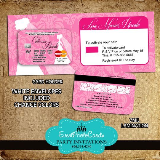 17 Best images about Credit Card Invitations – Photo Card Invites
