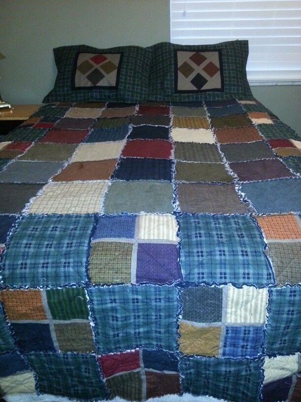 Wool And Needle Flannel Ii Love The Fabric And Love Rag Quilts This Is For The Master Bedroom