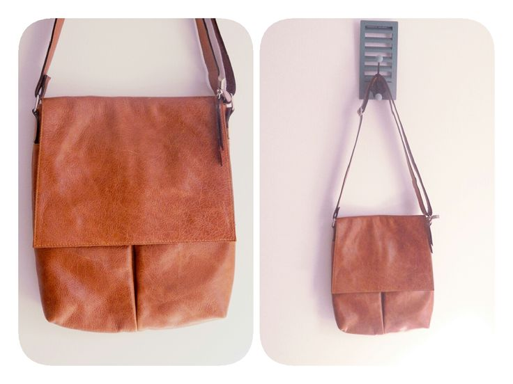 Morral color madera. Tamaño mediano. #bags #leatherware #morral