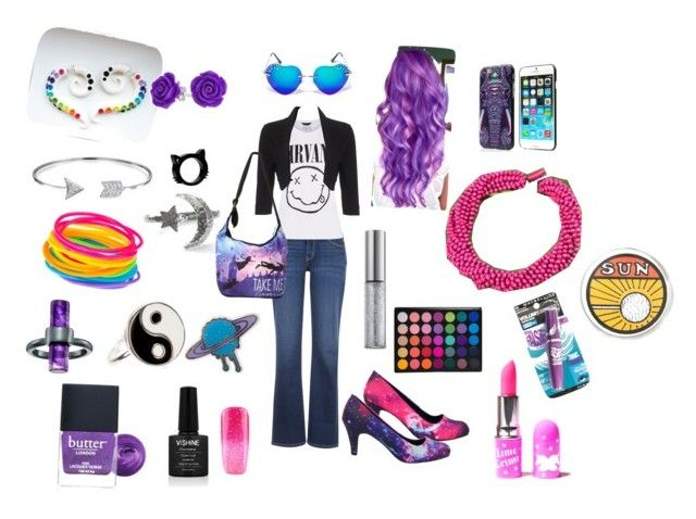 Luna's Not At Hogwarts by timetravelingfashionistas on Polyvore featuring polyvore, fashion, style, Phase Eight, Levi's, Disney, NOVICA, Accessorize, French Connection, Bling Jewelry, Comeco, Lime Crime, Urban Decay, Butter London and clothing
