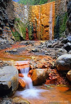Cascade of Colors, Isla de La Palma, Canary Islands, Spain