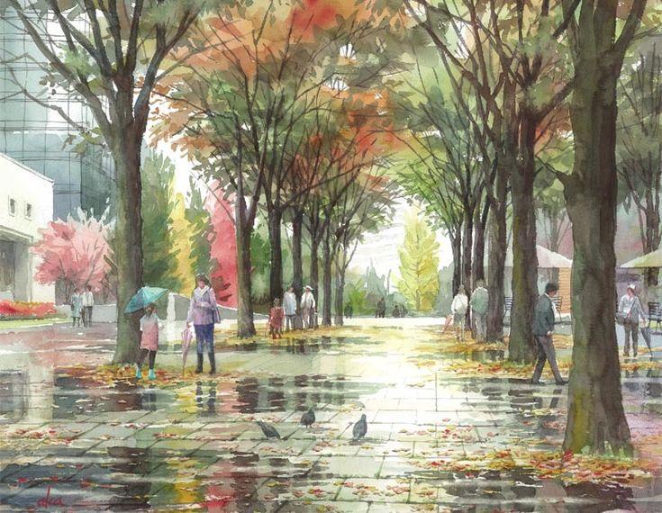 水彩 : 赤坂孝史の水彩画 もっと見る
