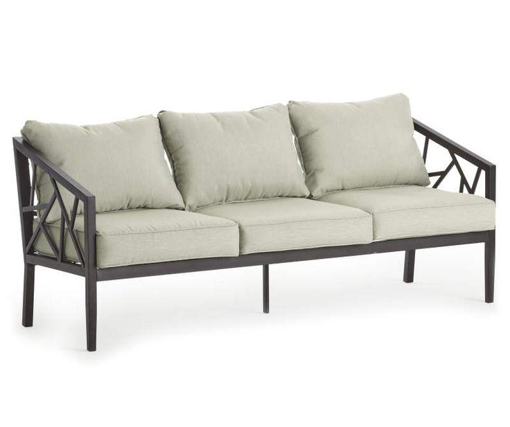 Real Living Verrado Black Cushioned Patio Sofa - Big Lots ... on Wilson & Fisher Verrado Black Cushioned Patio Sofa id=69413