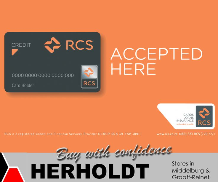 #Herholdt is registered with the National Credit Regulator and we therefore accept RCS cards! For more info, visit our site: http://asite.link/326 . #NCR #RCS