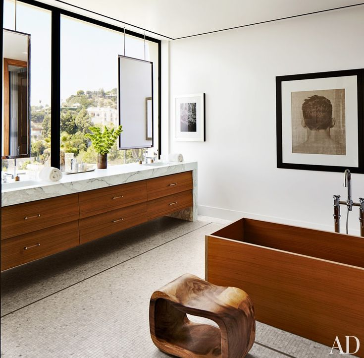 bathroom by dan fink and tim murphy in los angeles ca window vanity floating mirror