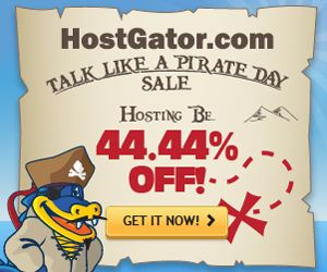 83 best godaddy coupon code images on pinterest coupon coupons hostgator pirate day 4444 off discount fandeluxe Choice Image