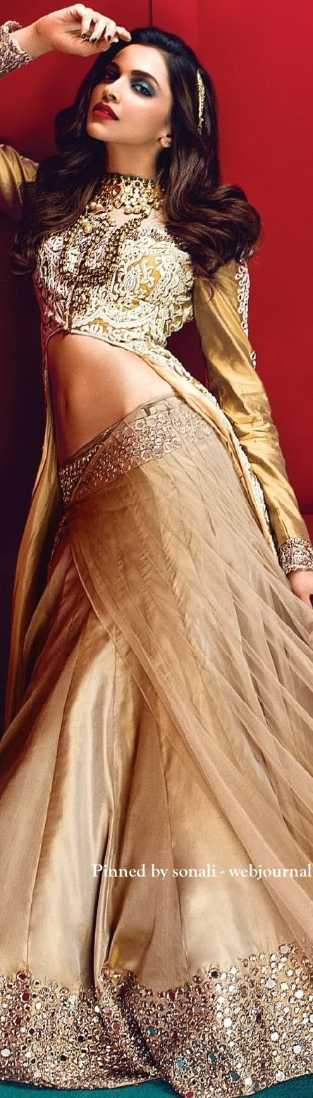 Deepika Padukone in Vogue India, June 2014 - Attire by Manish Malhotra