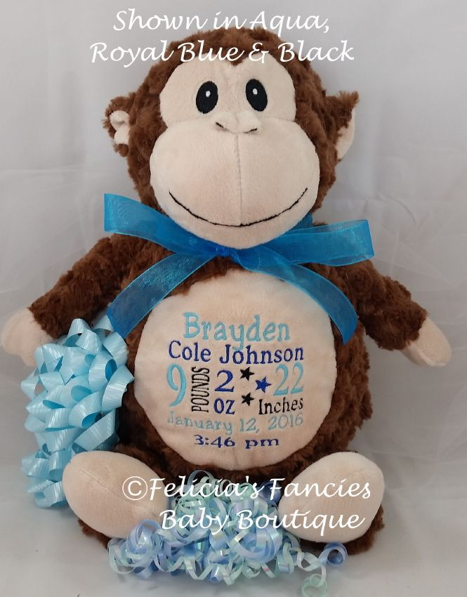 26 best personalized plush images on pinterest stuffed animals personalized baby stuffed animal plush gift negle Image collections