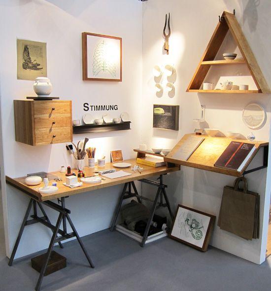 : Art Studios, Offices Spaces, Shelves, Work Spaces, Natural Wood, Offices Workspaces, Design, Home Offices, Bureau