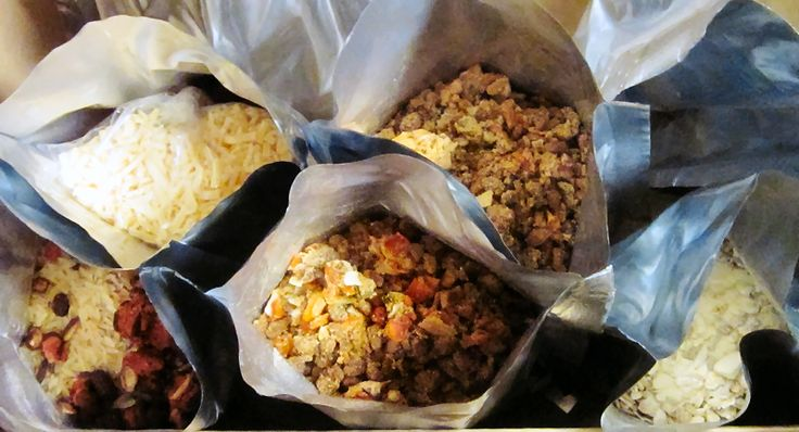 Lean to make your own instant survival meals from dehydrated and freeze dried foods. Save money by making your own instant meals in a bag.