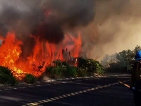 09/21/2016 - Crews are working to surround a wildfire at a central California Air Force base before it threatens heavily used launch pads used to send satellites into space. The blaze at Vandenberg Air Force Base was 20 percent contained on Tuesday.