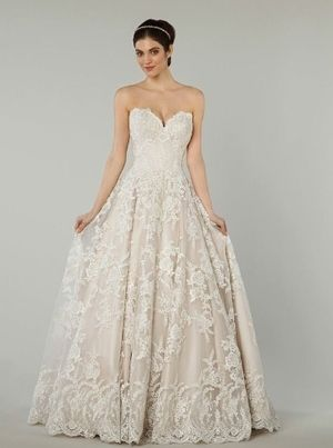 Sweetheart A-Line Wedding Dress  with Natural Waist in Lace. Bridal Gown Style Number:33193145