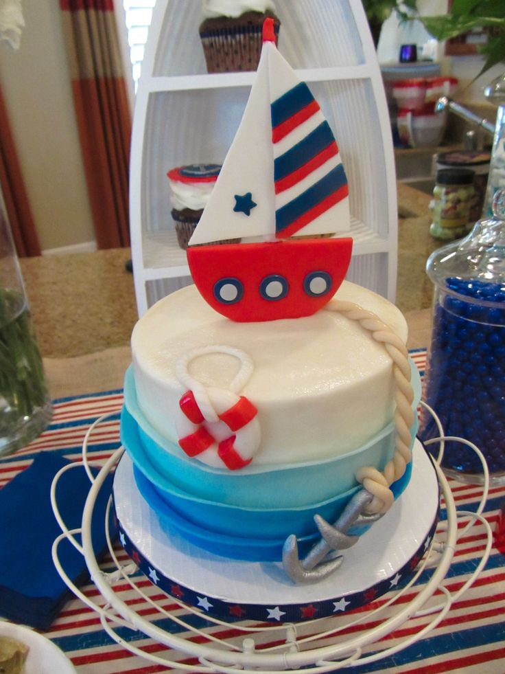 Nautical Baby Shower I just threw. Cake by Cheryl s Creative Cakery. Let s Get Crafty ...
