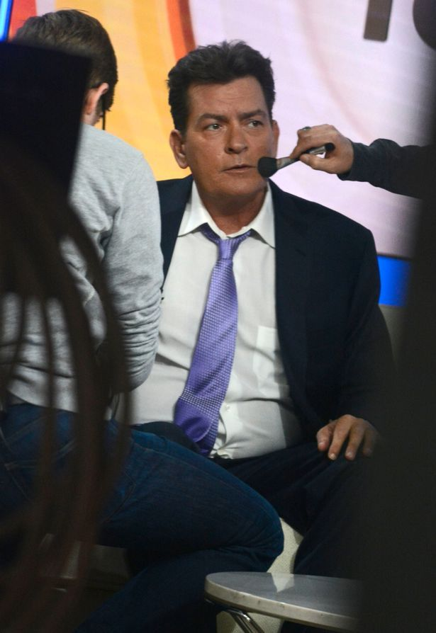 Charlie Sheen appeared on the Today Show, NYC for a special live interview to discuss his HIV+ status
