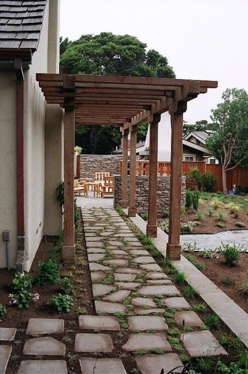 walkway by the side of the house? | Pergola, Outdoor ... on Side Yard Path Ideas id=33807
