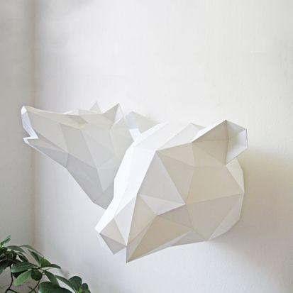 les 36 meilleures images du tableau troph e en papier tissu et simili cuir sur pinterest. Black Bedroom Furniture Sets. Home Design Ideas