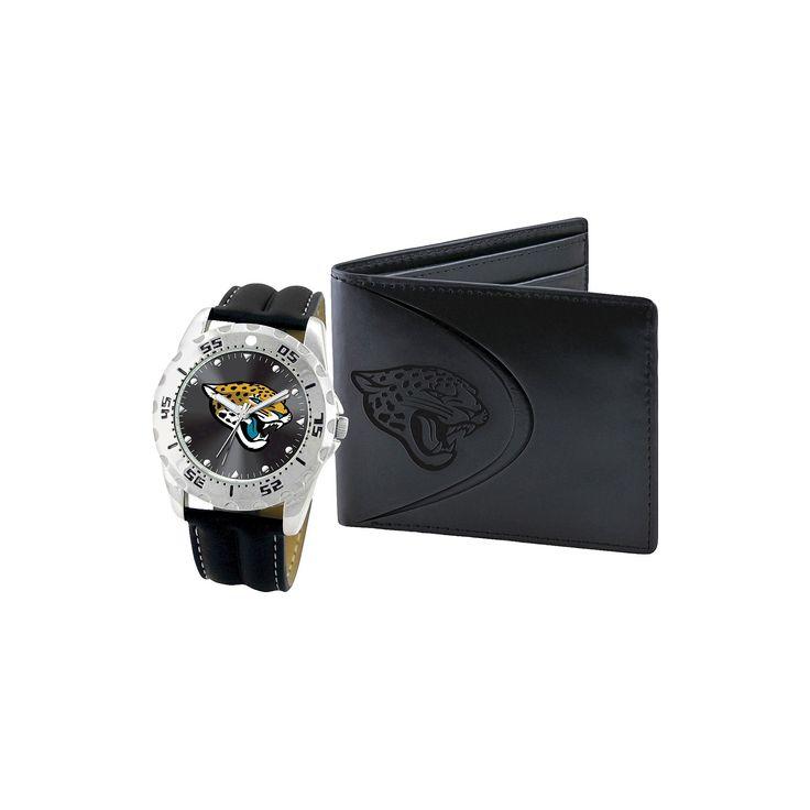 Men's Game Time Jacksonville Jaguars Watch & Wallet Set - Black