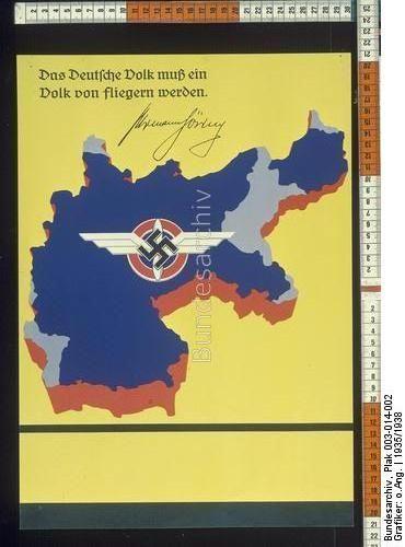 Das Deutsche Volk muß ein Volk von Fliegern werden. Hermann Göring Archive title: Fliegerausbildung bei der Flieger-HJ oder dem Deutschen Luftsportverband bzw. dem NSFK Dating: 1935/1938