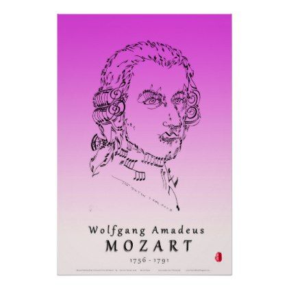 Mozart: Face the Music Poster - classic gifts gift ideas diy custom unique