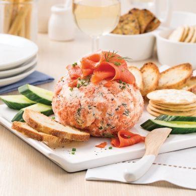 Boule au fromage et saumon fumé - Recettes - Cuisine et nutrition - Pratico Pratique