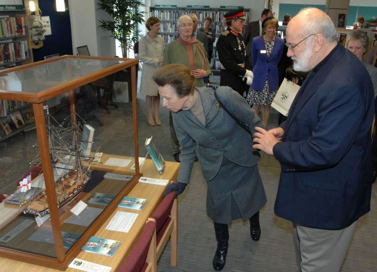 """One of my readers, John Thompson, presented me with a model of Kydd's first command, the little brig-sloop HMS """"Teazer"""". HRH Princess Anne viewed the completed model, when it was on loan to the Ivybridge Library"""