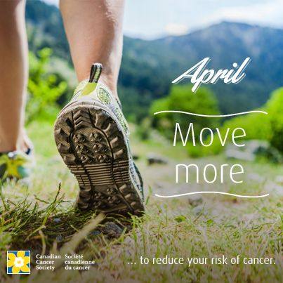 How will you move more to reduce your risk of cancer?
