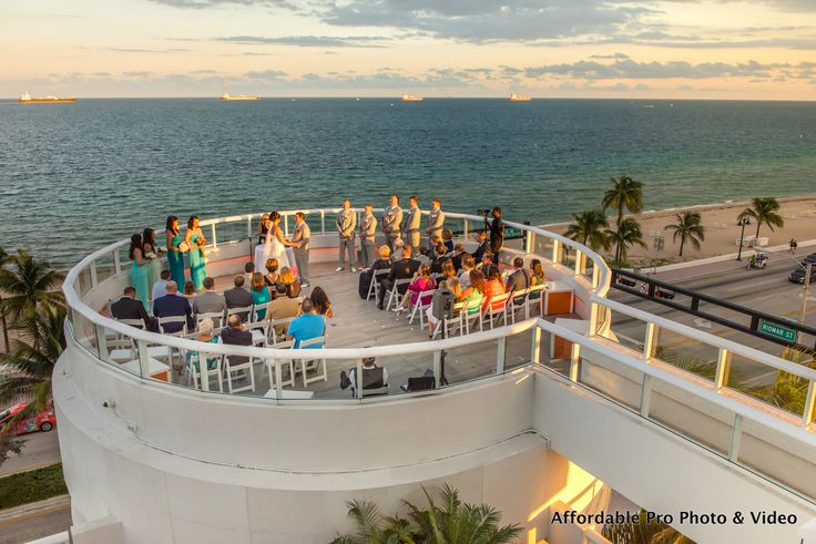 Want a beachside wedding without the sand try the rotunda for Hilton fort lauderdale beach resort wedding