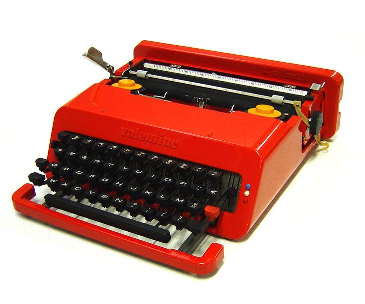 Ettore Sottsass & Perry King, Olivetti Valentine typewriter