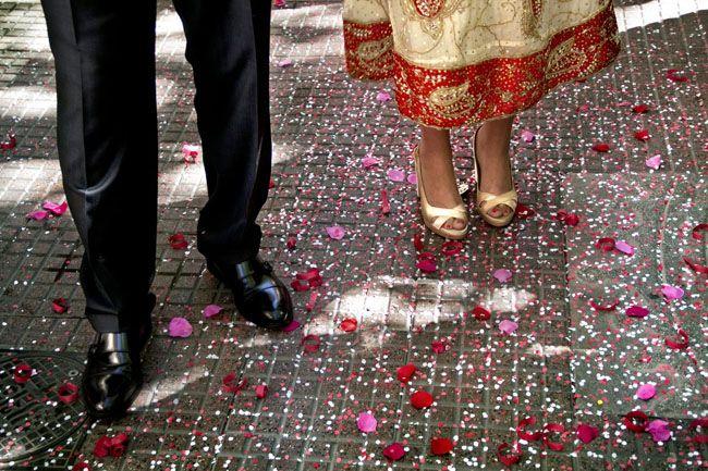 boda kiky y oscar vestido india vintage