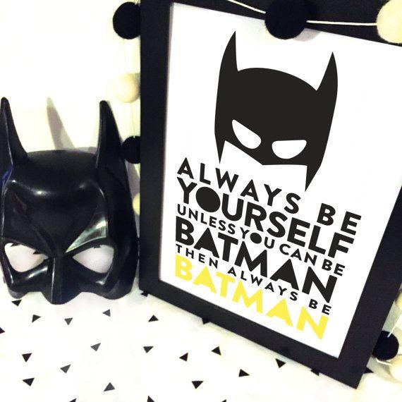 be batman superhero batman Wall Art Print Decor by spunkandheart
