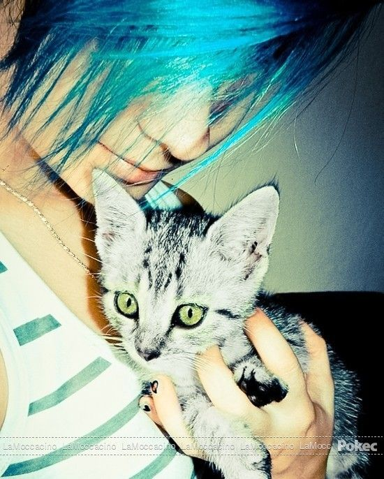 Blue hair♥
