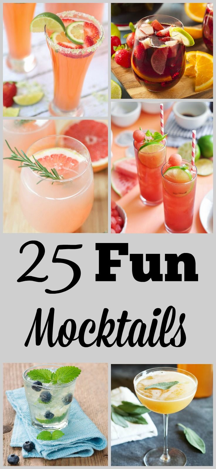25 fun mocktails recipes beverage and drinks alcohol for Fun alcoholic drink recipes