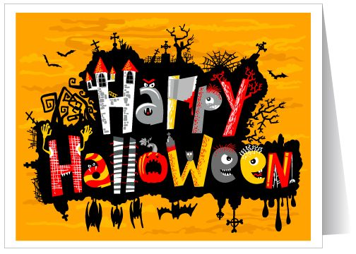 Superior Classic Halloween Greeting Card · Happy Halloween QuotesHalloween ...